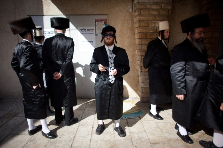 <p>Ultra Orthodox Jews celebrate the Jewish holiday of Purim on March 8, 2012 in Benei Brak, Israel. The carnival-like Purim holiday is celebrated with parades and costume parties to commemorate the deliverance of the Jewish people from a plot to exterminate them in the ancient Persian empire 2,500 years ago, as described in the Book of Esther.</p>