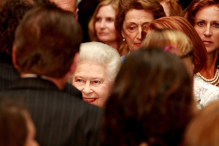 <p>Queen Elizabeth II, meets the crowd at a reception at Parliament House on Oct. 21, 2011 in Canberra, Australia.</p>
