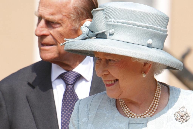 <p>Prince Philip accompanies Queen Elizabeth II to St. George's Chapel in Windsor Castle on April 24, 2011 for a formal royal ceremony before the royal wedding between Prince William and Catherine, Duchess of Cambridge.</p>