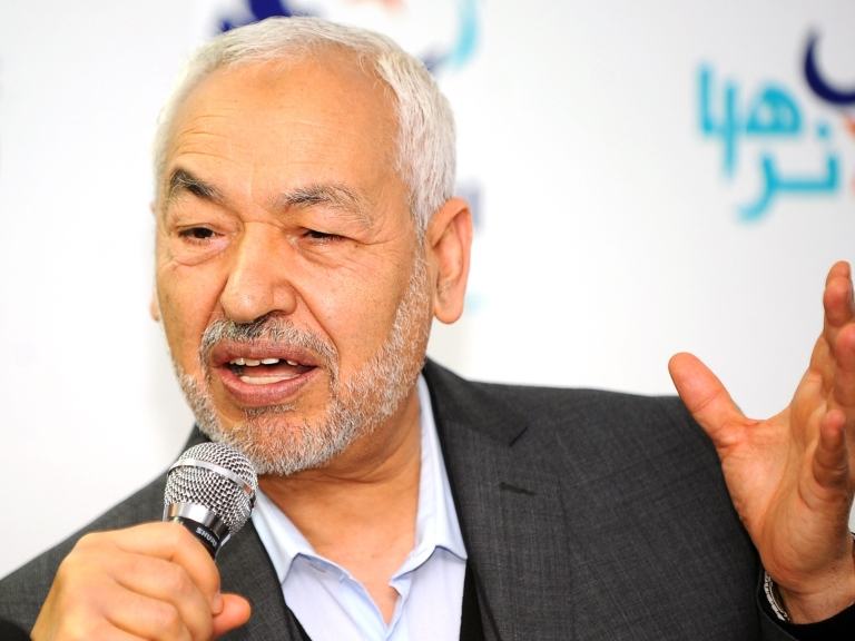 """<p>In a press conference Monday, the founder of Ennahda, Rachid al-Ghannouchi, said: """"We do not want Tunisian society to be divided into two ideologically opposed camps, one pro-Sharia and one anti-Sharia.  We want above all a constitution that is for all Tunisians, whatever their convictions.""""</p>"""