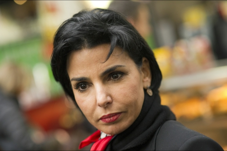 <p>France's ruling party UMP deputy Rachida Dati is seen at Paris Gare du Nord train station before leaving for Lille, northern France, on February 23, 2012, for a campaign meeting of France's ruling party UMP candidate for the 2012 presidential election.</p>