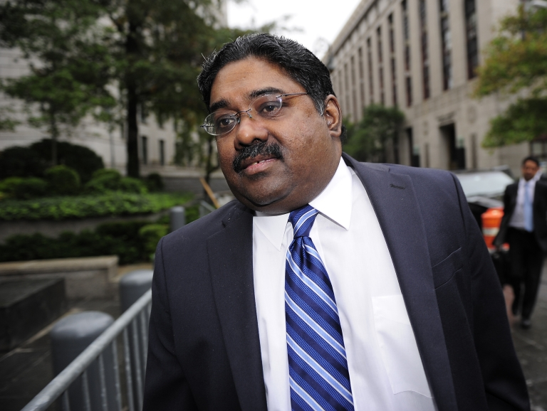 <p>Raj Rajaratnam arrives at court in New York on Oct. 13, 2011, to hear his sentence. The former head of the Galleon Group hedge fund was convicted on securities fraud charges in May.</p>