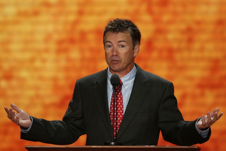 <p>US Sen. Rand Paul (R-Ky.) speaks during the Republican National Convention at the Tampa Bay Times Forum on Aug. 29, 2012 in Tampa, Florida.</p>