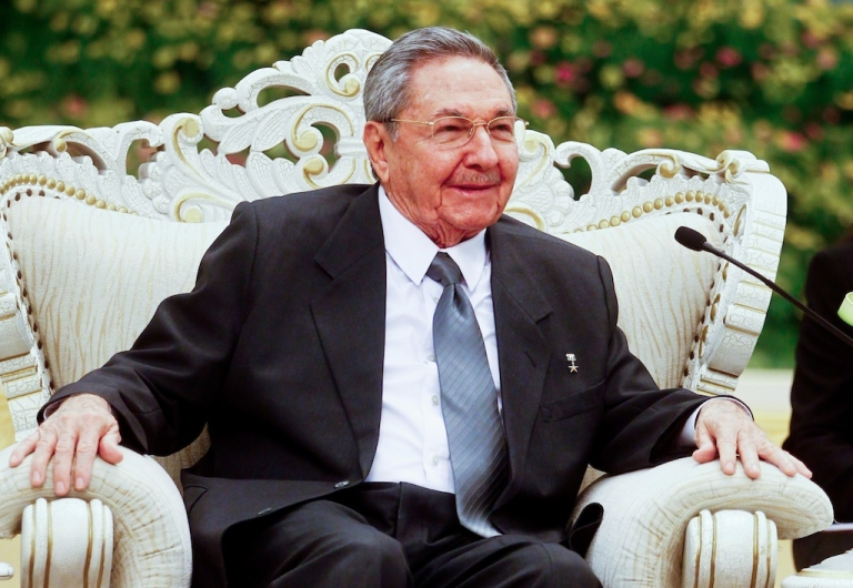 <p>Cuban President Raul Castro during an official visit to China on July 6, 2012.</p>
