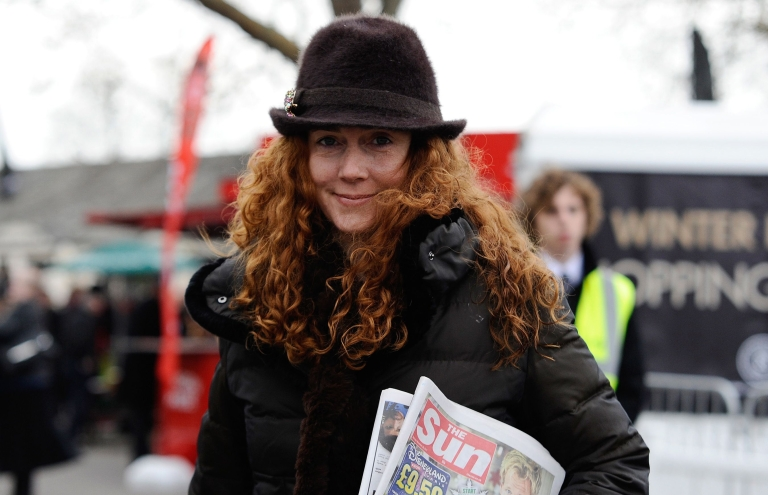<p>Rebekah Brooks, former chief executive of News International, arrives at Newbury racecourse in November.</p>