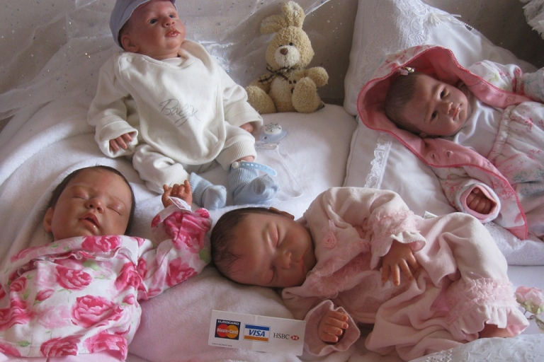 <p>Winstone's reborns are so realistic, she was once stopped by police when she had four of them on the back seat.</p>