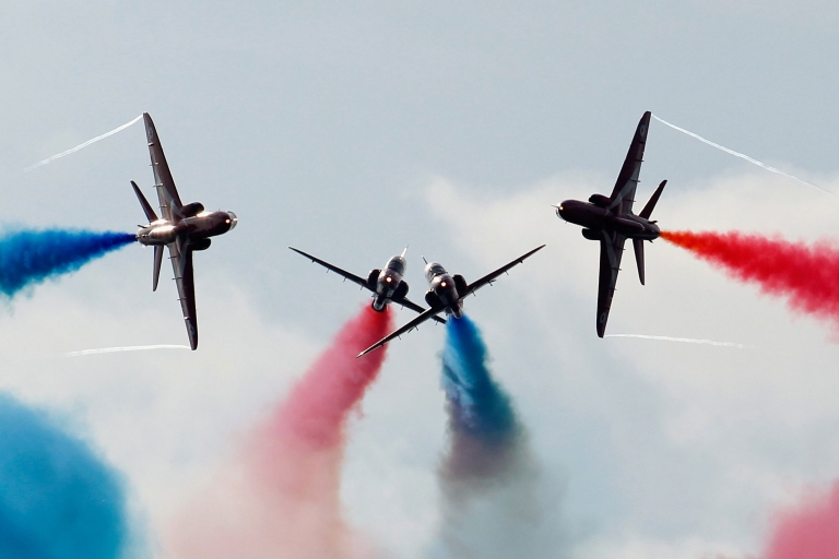 <p>Red Arrow pilots perform the