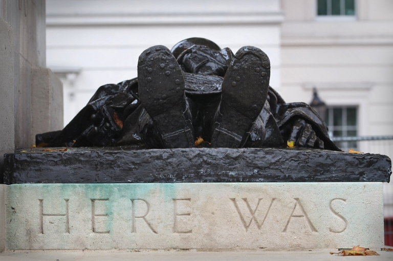 <p>A statue to one of the fallen of World War I.  Are today's European leaders as inept in guiding the continent through troubled times as those in charge in August 1914?</p>