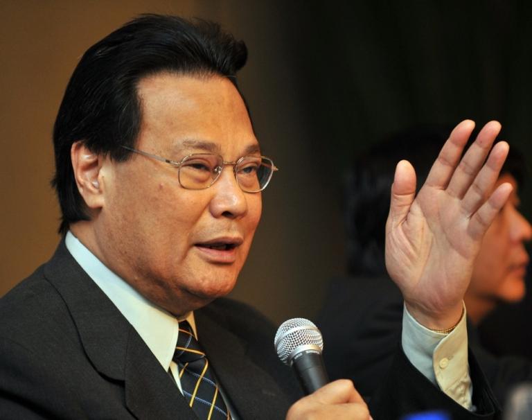 <p>Philippine Supreme court chief Justice, Renato Corona speaking in Manila on January 20, 2011.</p>