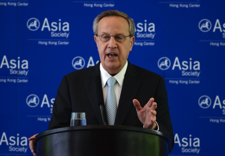<p>Richard C. Levin, president and Frederick William Beinecke professor of economics, Yale University, speaks at the Asia Society luncheon, in Hong Kong on May 9, 2012. Levin presented a talk on his views on what caused the 2008 global financial crisis, what could have prevented it and what the US government could have responded to mitigate the adverse affects on the economy.</p>
