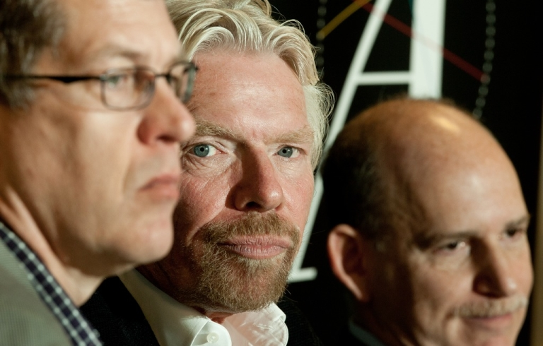 <p>Steve Clemons (L), Editor at Large of The Atlantic, hosts the discussion with Virgin Group founder Sir Richard Branson (C) and Drug Policy Alliance (DPA) Executive Director Ethan Nadelmann on the need for greater momentum and political debate to end the failed war on drugs on March 15, 2012, during a discussion at The Atlantic magazine headquarters in Washington, DC. Branson's involvement with the Global Commission on Drug Policy has brought new levels of attention to the growing movement to end the 40-year-old war on drugs. His latest crusade is aimed at higher education.</p>