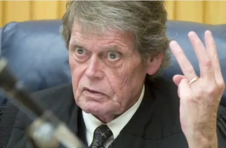 <p>Judge Richard Baumgartner is seen in this still image taken from a YouTube video posted by The Knoxville News Sentinel in February, 2010.</p>