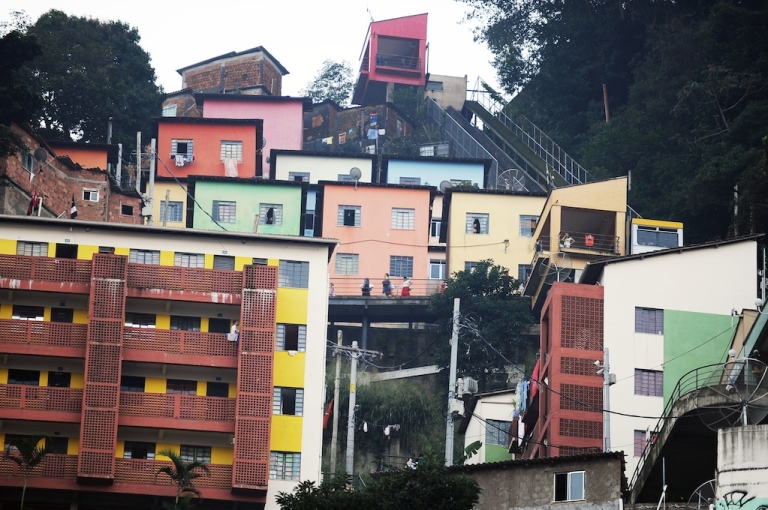 <p>A favela in Rio, Brazil.</p>