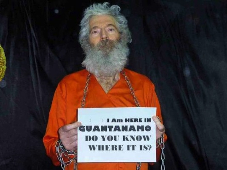<p>One of the five photos of missing FBI agent Robert Levinson. His family released the pictures on Tuesday.</p>