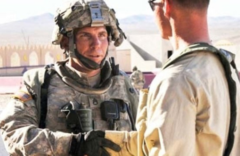 <p>A man identified as Robert Bales appears in this Defense Department photograph published in High Desert Warrior, a publication at the National Training Center and Fort Irwin in California.</p>