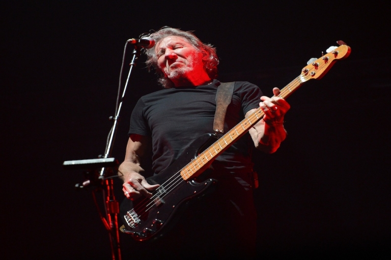 <p>Musician Roger Waters performs at Yankee Stadium on July 6, 2012 in New York City.</p>