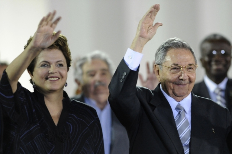<p>Rousseff's visit with Raul Castro, the Cuban president, was more economic than political.</p>