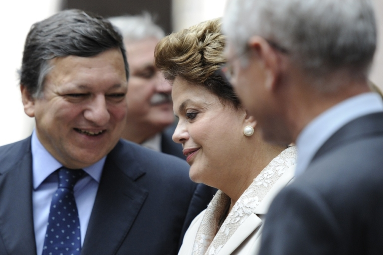<p>Rousseff's the most popular girl in the room.</p>