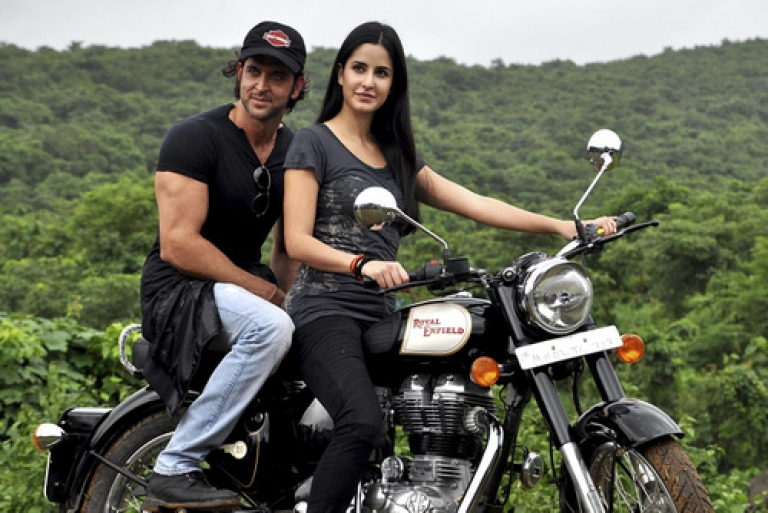 <p>Shown here with Bollywood stars Hrithik Roshan and Katrina Kaif, the Royal Enfield Bullet notched up 44 percent sales growth last year, thanks to a new engine and a new CEO.</p>
