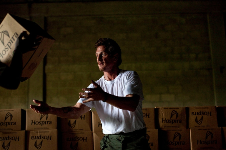 <p>Sean Penn, actor and activist with an NGO operating in Haiti brings in supplies to fight cholera.</p>