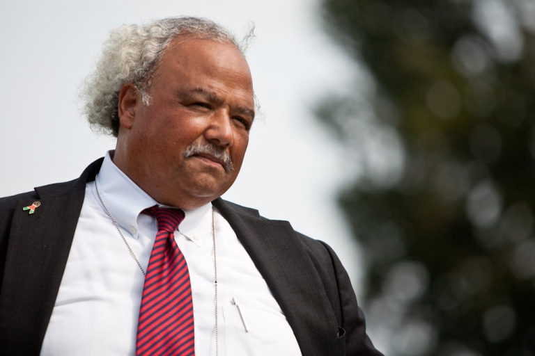 <p>Eric Goosby, United States Global AIDS Coordinator, listens during a news conference for the launch of the Congressional HIV/AIDS Caucus on Capitol Hill on September 15, 2011 in Washington, DC.</p>