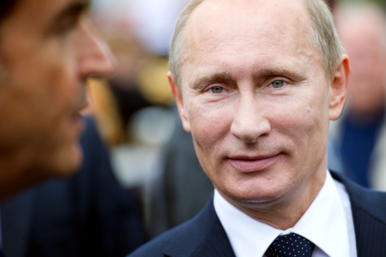 <p>Russian Prime Minister Vladimir Putin is seen during the inauguration of a monument dedicated to World War I Russian soldiers on June 21, 2011 near the Seine River in Paris, France.</p>