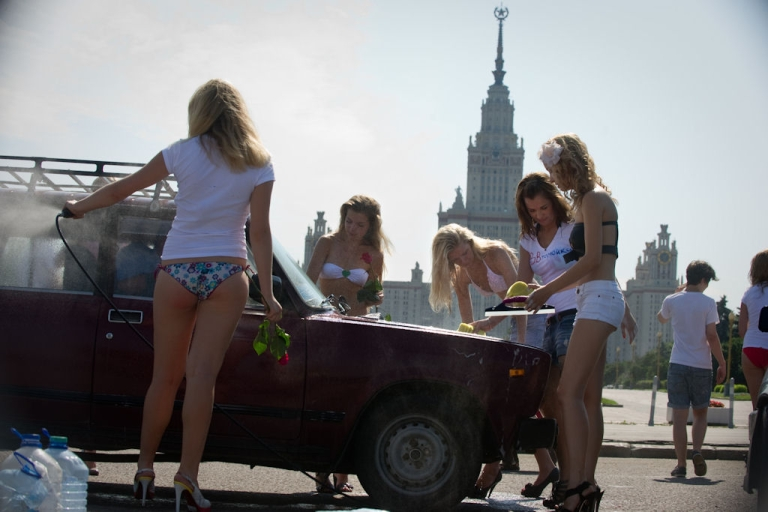 <p>Young women from a group called