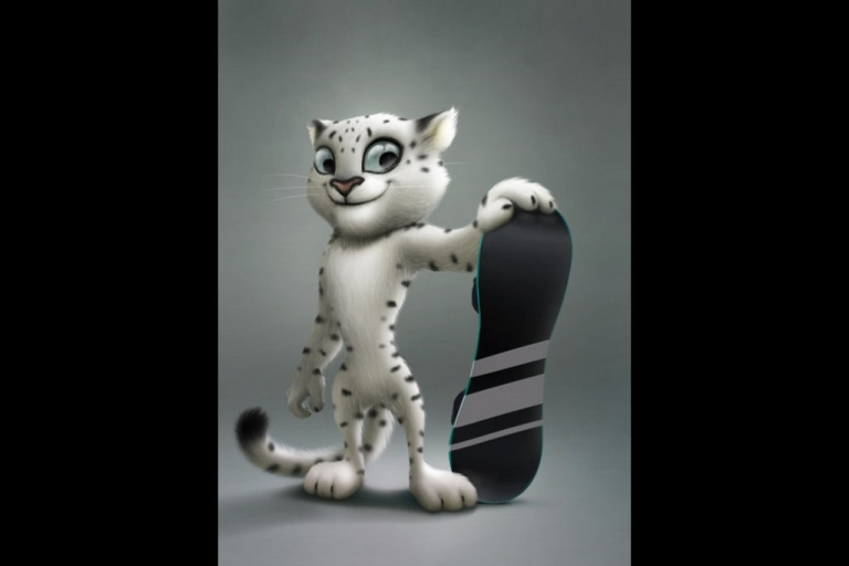 <p>The snow leopard, designed by Vadim Pak, was Russian Prime Minister Vladimir Putin's choice to represent the 2014 Winter Olympics in Sochi, Russia.</p>