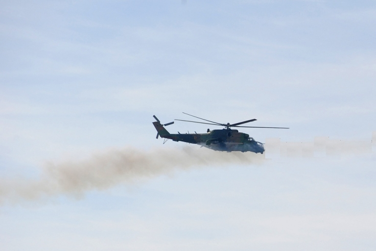 <p>An Mi-24 helicopter much like the one that was hijacked in Russia to help convicted murderer Alexei Shestakov escape from a high security prison.</p>