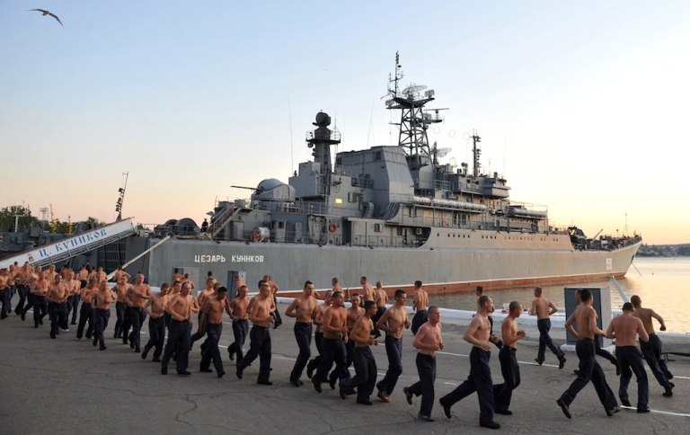 <p>Russia is reportedly sending three warships with 360 marines aboard to the Syrian port of Tartus.</p>