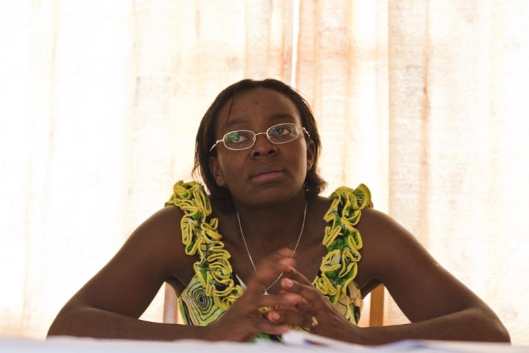 <p>Rwandan opposition leader Victoire Ingabire is pictured at her home in Kigali, Rwanda, in 2010.</p>