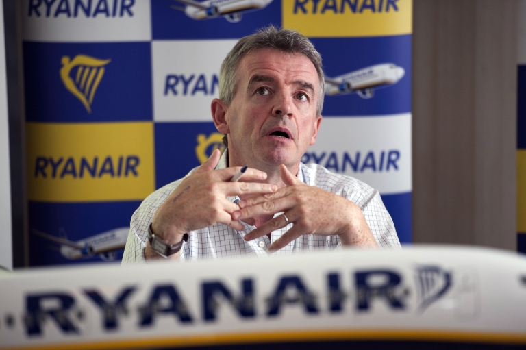 <p>Irish budget airline Ryanair CEO Michael O'Leary speaks during a press conference in Marignane, France, on July 26, 2011.</p>