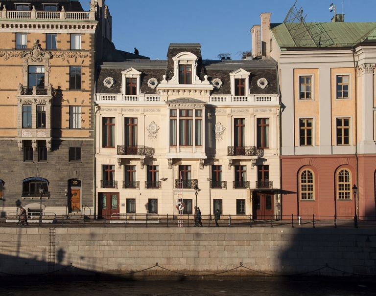 <p>The Sagerska Palatset, the residence of the Swedish Prime Minister and his family in Stockholm.</p>
