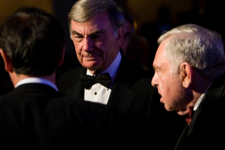 <p>ABC News correspondent Sam Donaldson (center) at the National Italian American Foundation's 33rd Anniversary Awards Gala on October 18, 2008 in Washington, DC.</p>