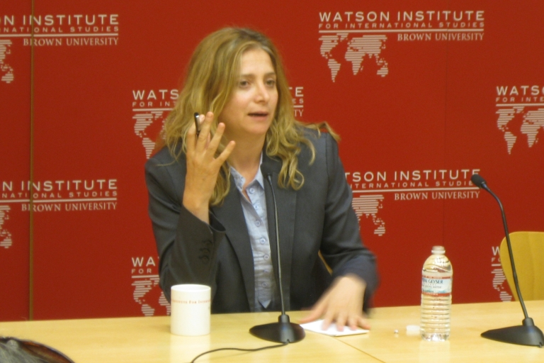 "<p>Syrian author Samar Yazbek talks about her book ""A Woman in the Crossfire"" at Brown University.</p>"