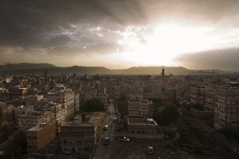<p>Looking over the ancient old city within the heart of Sana'a, the capital city of Yemen, on Aug. 16, 2010.</p>
