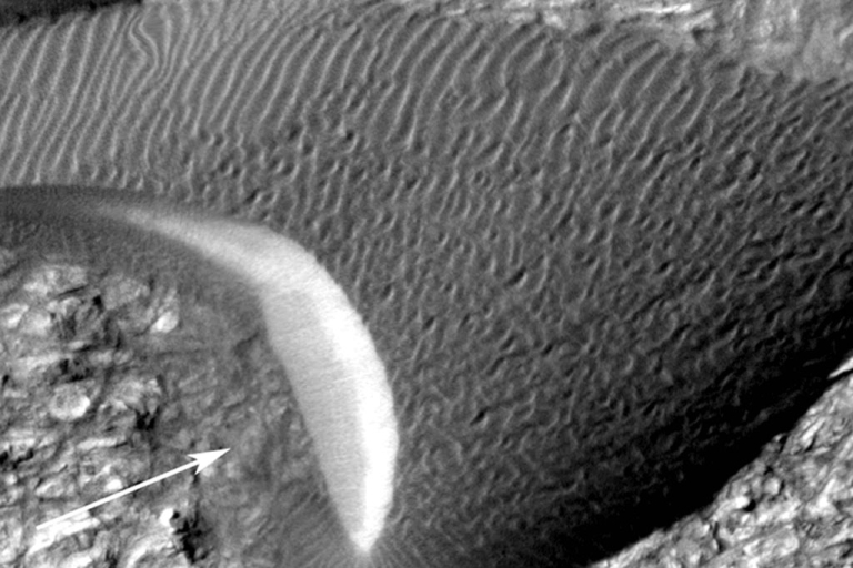 <p>Images of shifting sand dunes on Mars prove they're speedier than once thought.</p>