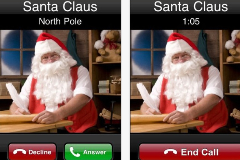 <p>Smart phone apps now allow parents to call their kids posing as Santa in order to discipline them.</p>
