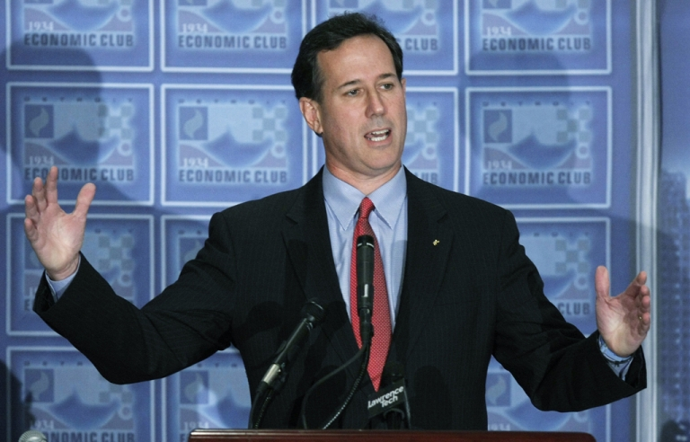 <p>Republican presidential candidate Rick Santorum released four years of his tax returns, from 2007 to 2010, Wednesday night.</p>