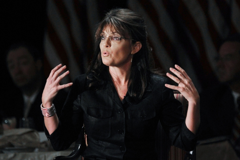 <p>Former Alaska governor and Republican vice president candidate Sarah Palin speaks at the Long Island Association's annual meeting, Feb. 17, 2011 in Woodbury, New York.</p>