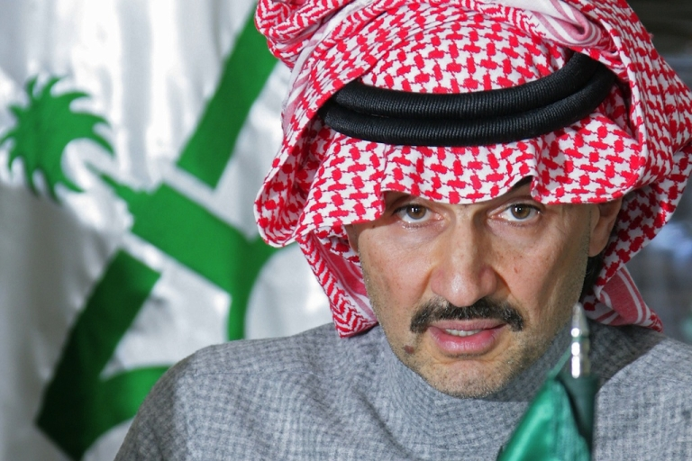 <p>Saudi tycoon and key Citi shareholder Prince Alwaleed bin Talal speaks during a news conference for his Kingdom Holdings in Riyadh on January 11, 2010.</p>