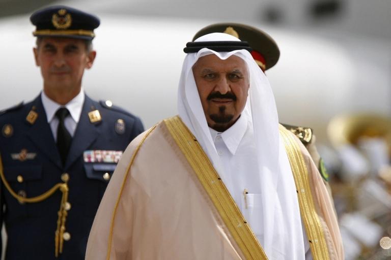 <p>Saudi Crown Prince Sultan bin Abdul Aziz walks past an honor guard in Madrid on June 5, 2008.</p>