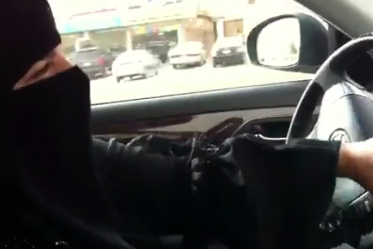 <p>An Activist calling herself 'Aziza' defies a ban on women driving cars in Saudi Arabia, in a rare protest coordinated through social media under the banner