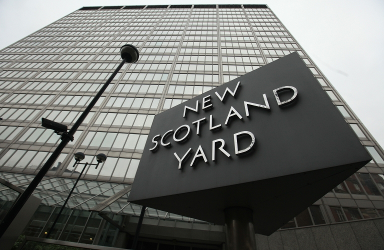 <p>The New Scotland Yard building in London on Jan. 27, 2011.</p>