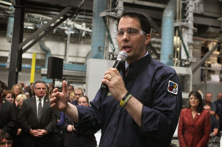 <p>Wisconsin Governor Scott Walker won the recall election in his state on June 5, 2012, but exit polls showed 17 percent of those who voted for Walker would have voted for President Obama.</p>