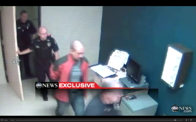 <p>A screengrab of a police surveillance video showing George Zimmerman after he was detained following the killing of Florida teenager Trayvon Martin.</p>