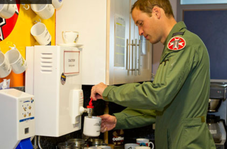 <p>A photo of Prince William posted on the Duke and Duchess of Cambridge's official website.</p>