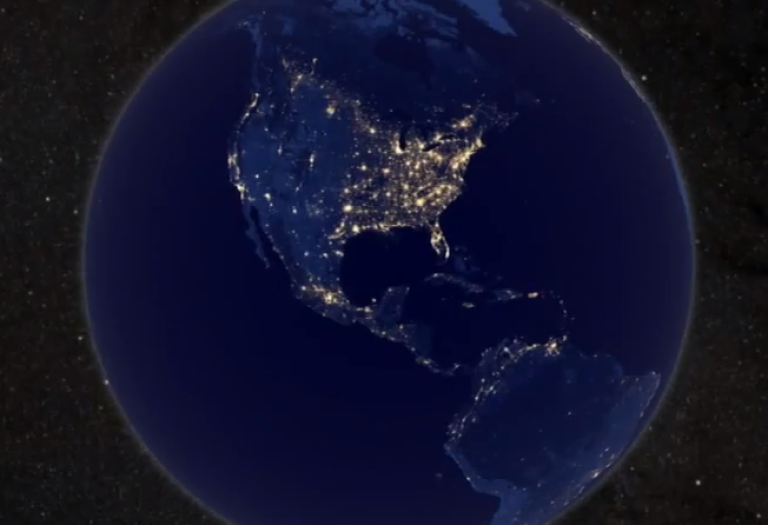 <p>A screengrab of the NASA video, Earth at Night, shows our globe in great detail.</p>