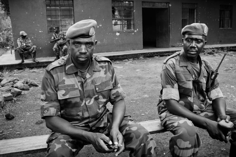 <p>Col. Vianney Kazarama, an M23 rebel spokesman, in Rumangabo. The rebels are using a ranger headquarters in Virunga National Park as a training camp.</p>