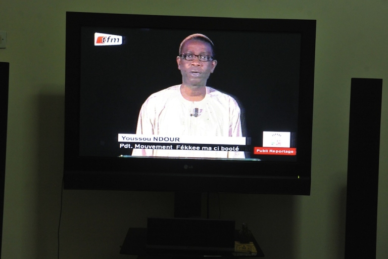 <p>Senegalese singer Youssou N'dour announces on January 2, 2012 in Dakar that he was running for president against incumbent Abdoulaye Wade in the Feb. 26 elections.